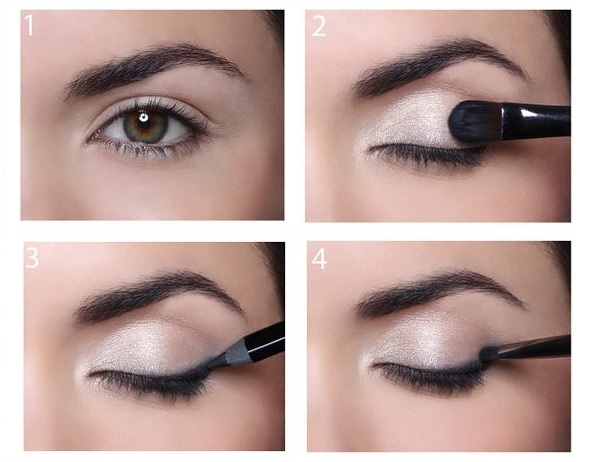 Koyu renk göz makyajı uygulaması