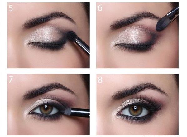 Koyu renk göz makyajı yapılışı