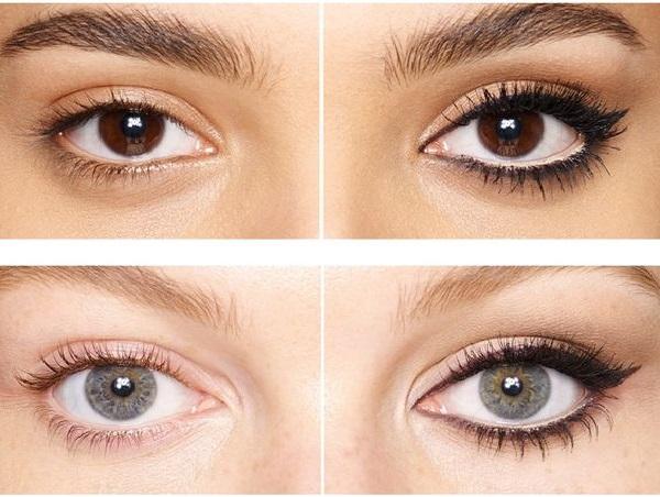 Gözleri çekik göstermek için